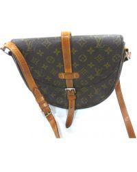 Lyst - Louis Vuitton Chantilly Cloth Handbag in Brown c248456a6d57a