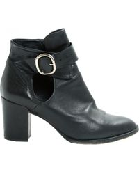 Maje - Pre-owned Leather Ankle Boots - Lyst