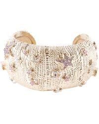 Chanel - Silver Metal Bracelet - Lyst