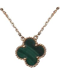 Van Cleef & Arpels - Alhambra Green Yellow Gold Necklace - Lyst