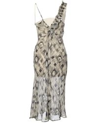 Dries Van Noten - Pre-owned Beige Viscose Dresses - Lyst