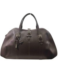 Loewe - Pre-owned Brown Leather Travel Bag - Lyst