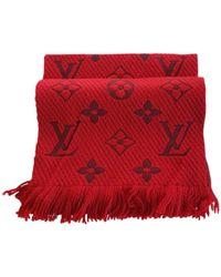 Louis Vuitton - Logomania Red Silk Scarves - Lyst