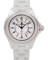 Chanel - J12 Quartz White Ceramic Watches - Lyst
