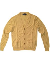 Polo Ralph Lauren - Yellow Cashmere Knitwear & Sweatshirt - Lyst