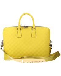 Lyst - Louis Vuitton Pre-owned Cloth Travel Bag in Gray for Men e59f9de91e7e9