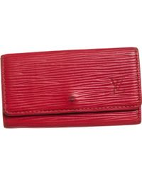 Louis Vuitton - Red Leather Small Bag, Wallets & Cases - Lyst