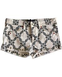 Isabel Marant   Pre-owned Ecru Denim - Jeans Shorts   Lyst