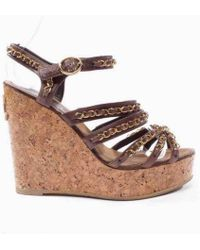 Chanel - Pre-owned Leather Sandal - Lyst