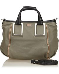 Chloé - Ethel Grey Leather Handbag - Lyst