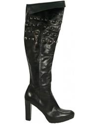 Stuart Weitzman - Black Leather Boot - Lyst
