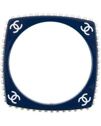 Chanel - Pre-owned Navy Plastic Bracelet - Lyst