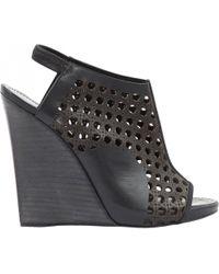 Proenza Schouler - Brown Leather Heels - Lyst