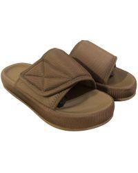 Yeezy - Khaki Synthetic Sandals - Lyst