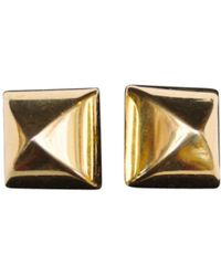 Hermès - Vintage Gold Metal Cufflinks - Lyst