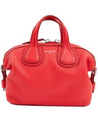 dd503b1a528b Lyst - Givenchy Nightingale Small Leather Biker-stitch Satchel Bag ...