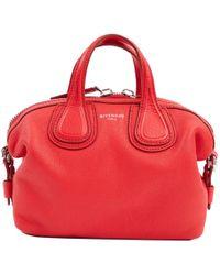 f79772e1a380 Lyst - Givenchy Nightingale Small Leather Biker-stitch Satchel Bag ...