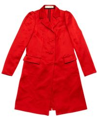 Marni - Red Polyester Coat - Lyst