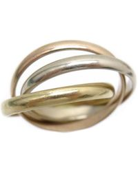 Cartier - Trinity Yellow Gold Ring - Lyst