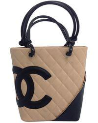 Chanel - Cambon Leather Handbag - Lyst