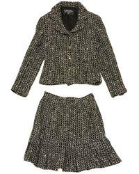 Chanel - Pre-owned Vintage Black Tweed Jackets - Lyst