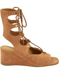 Chloé - Camel Suede Sandals - Lyst
