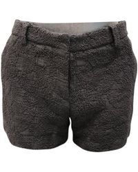 Dries Van Noten - Pre-owned Black Cotton Shorts - Lyst
