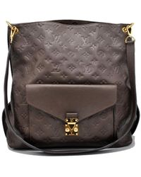 Louis Vuitton - Pre-owned Metis Brown Leather Handbags - Lyst