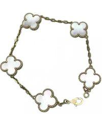 Van Cleef & Arpels - Alhambra Yellow Gold Bracelet - Lyst