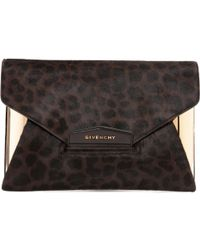 Givenchy - Brown Pony-style Calfskin Clutch Bag - Lyst