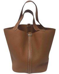 Hermès - Picotin Leather Handbag - Lyst
