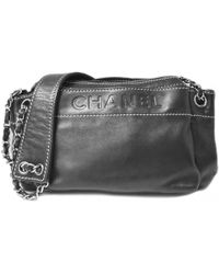 Lyst - Chanel Pre-owned Camera Leather Crossbody Bag in Black 9fa35121c0979