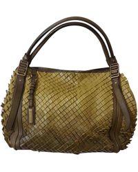 Burberry - Khaki Leather Handbag - Lyst