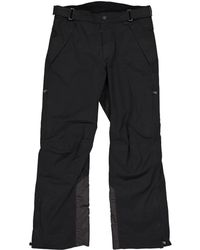 Moncler - Pre-owned Black Synthetic Trousers - Lyst