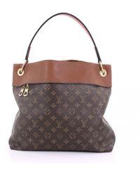 Louis Vuitton - Pre-owned Tuileries Brown Cloth Handbags - Lyst
