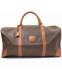 Céline - Brown Cloth Travel Bag - Lyst