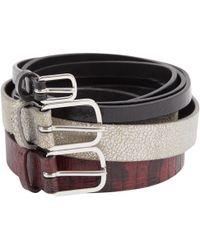 Dries Van Noten - Multicolour Leather Belts - Lyst