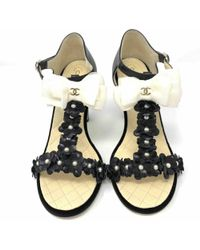 36197091583105 Chanel - Pre-owned Black Leather Heels - Lyst