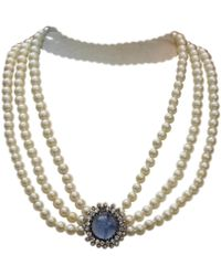 Dior - Pre-owned Vintage Other Metal Necklaces - Lyst
