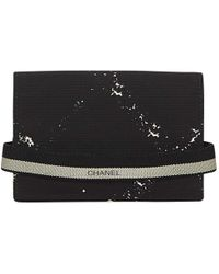 5f3e65136fc8 Chanel - Vintage Black Synthetic Purses, Wallets & Cases - Lyst
