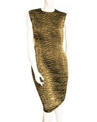 Lanvin - Pre-owned Evening Gown In Stretchy Gold Material, Size 38 - Lyst