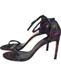 2b254cc5479 Lyst - Christian Louboutin Grusanda Glitter Bow Sandals in Black
