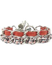 Chanel - Red Metal Bracelet - Lyst