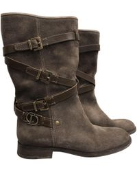 Dior - Leather Boots - Lyst