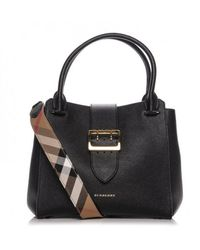 Burberry Sac à main en Cuir Noir - Multicolore