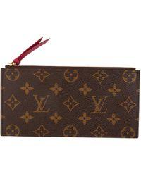 Lyst - Petite maroquinerie en toile Louis Vuitton en coloris Marron 690e6551c6e