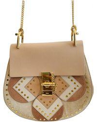 Chloé - Drew Beige Leather Handbag - Lyst