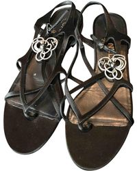 b3cc02c35ce83b Chanel - Pre-owned Leather Flip Flops - Lyst