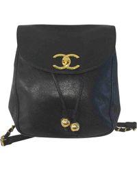 3eebb3c8ffb4d3 Lyst - Chanel Matrasse Vintage Backpack · Daypack Lambskin in Black