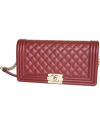6e56807ded60 Madison Avenue Couture Chanel Burgundy Stingray Small Boy Bag in Red ...
